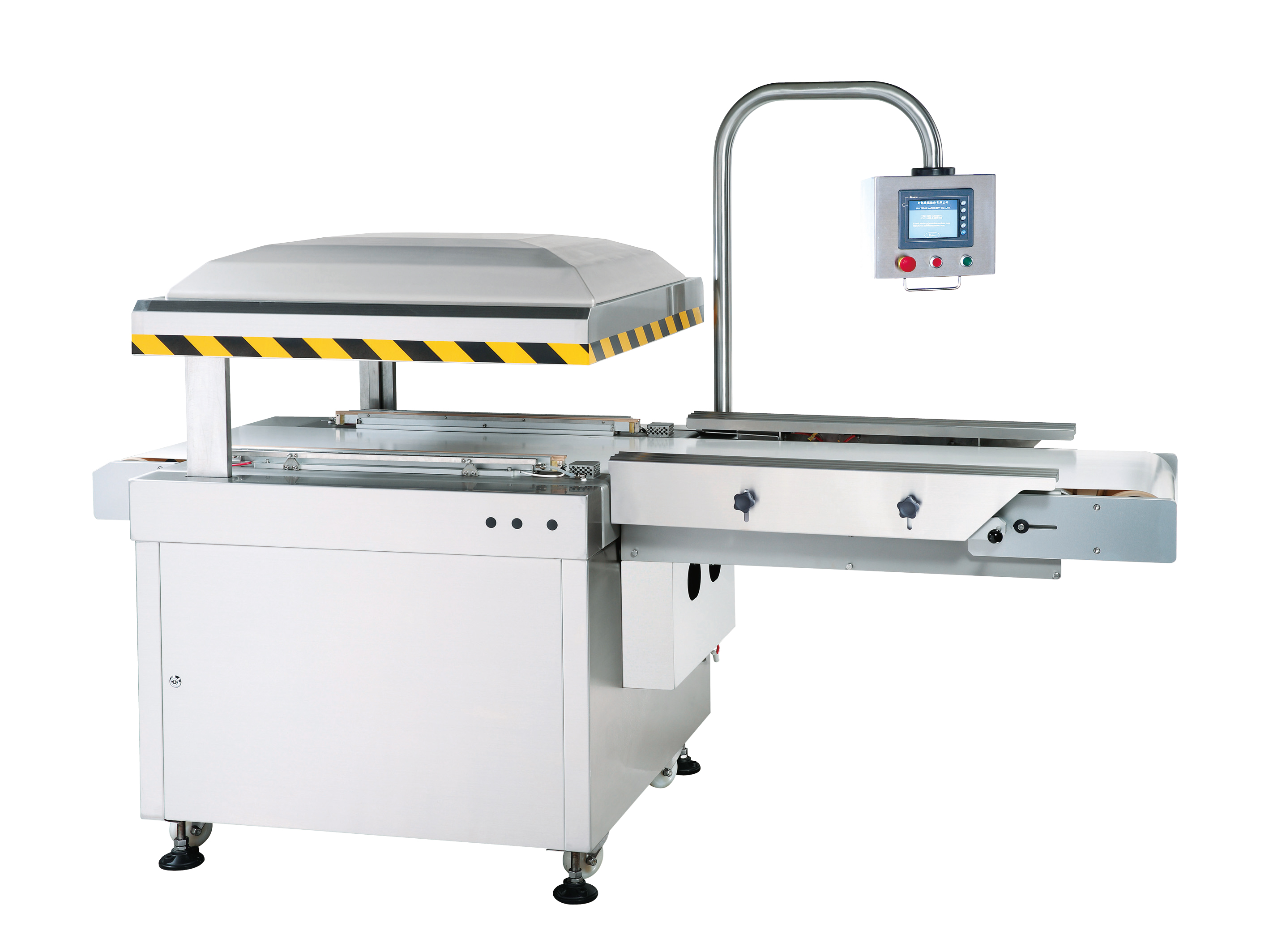 Automatic In Line Belt Type Vacuum Packaging Machine - J-V033LCA. Automatic In Line Belt Type Vacuum Packaging Machine