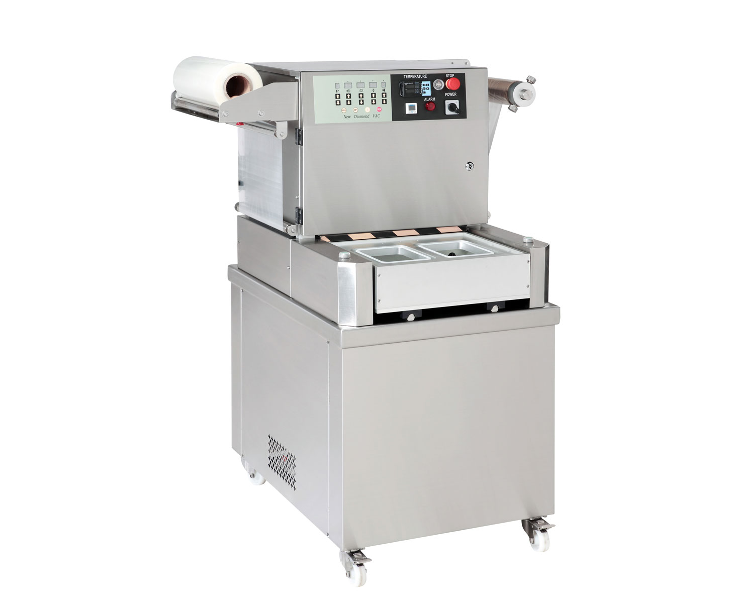 Semiautomatic Tray Sealer with Vacuum and Gas Flushing - J-V052LAS. Semiautomatic Tray Sealer with Vacuum and Gas Flushing