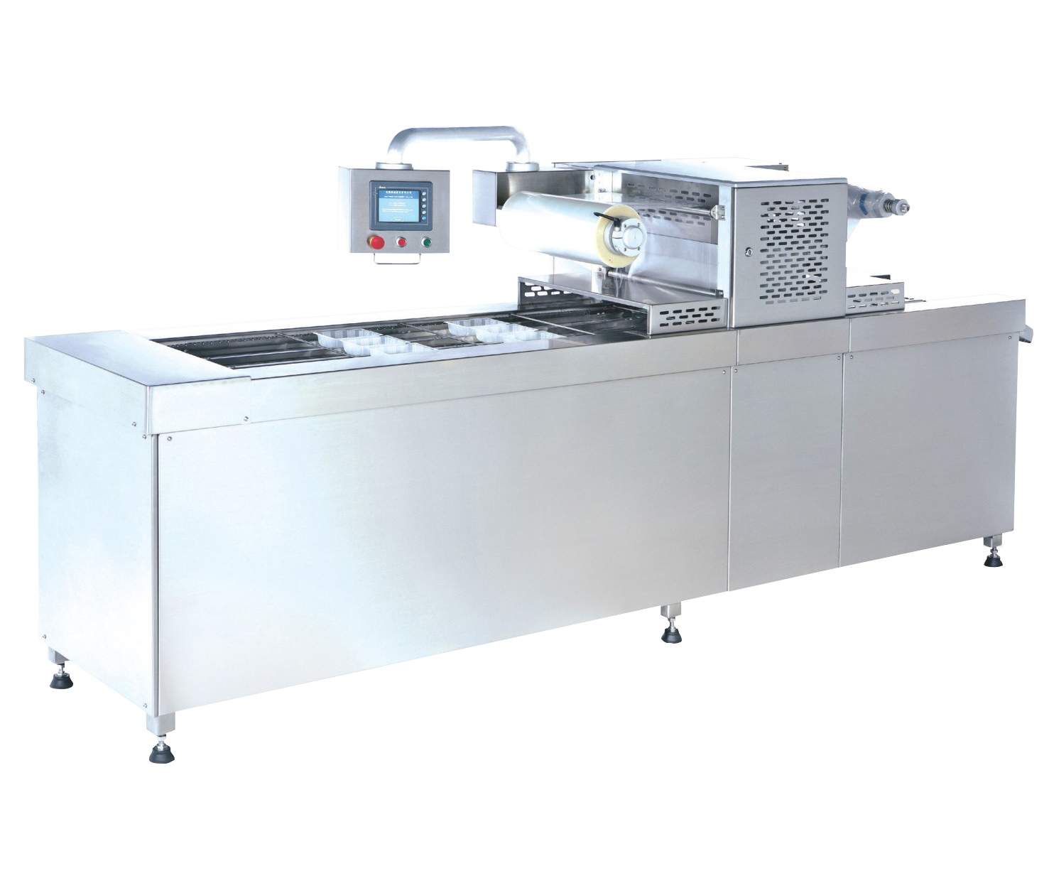 Automatic Tray Sealer with Vacuum and Gas Flushing - J-V056CA. Automatic Tray Sealer with Vacuum and Gas Flushing