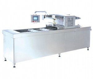 Automatic Tray Sealer dengan Vacuum dan Gas Flushing